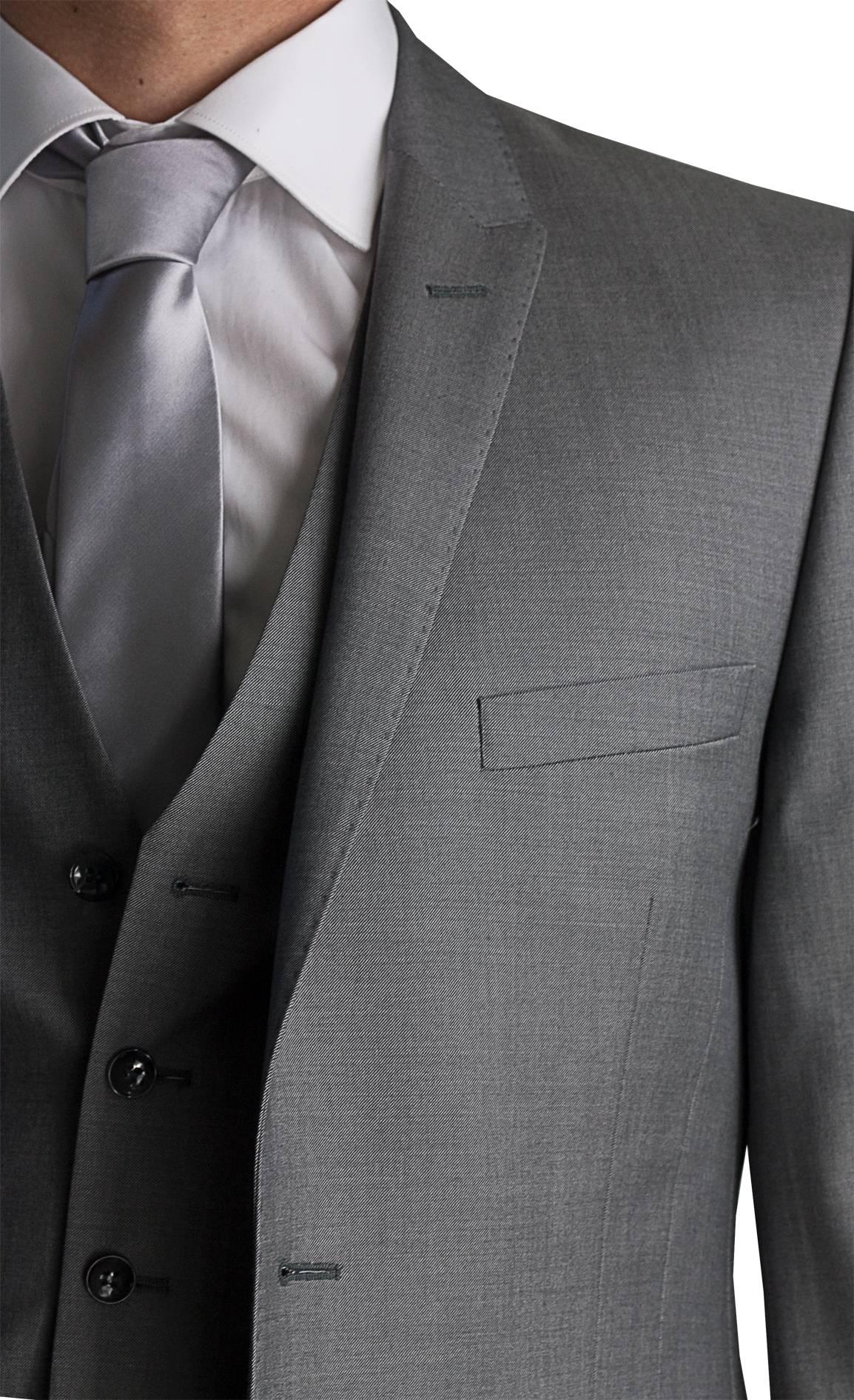 Costume gris clair de mariage col pointes Aix en Provence L - Espace ... aa3be85039a